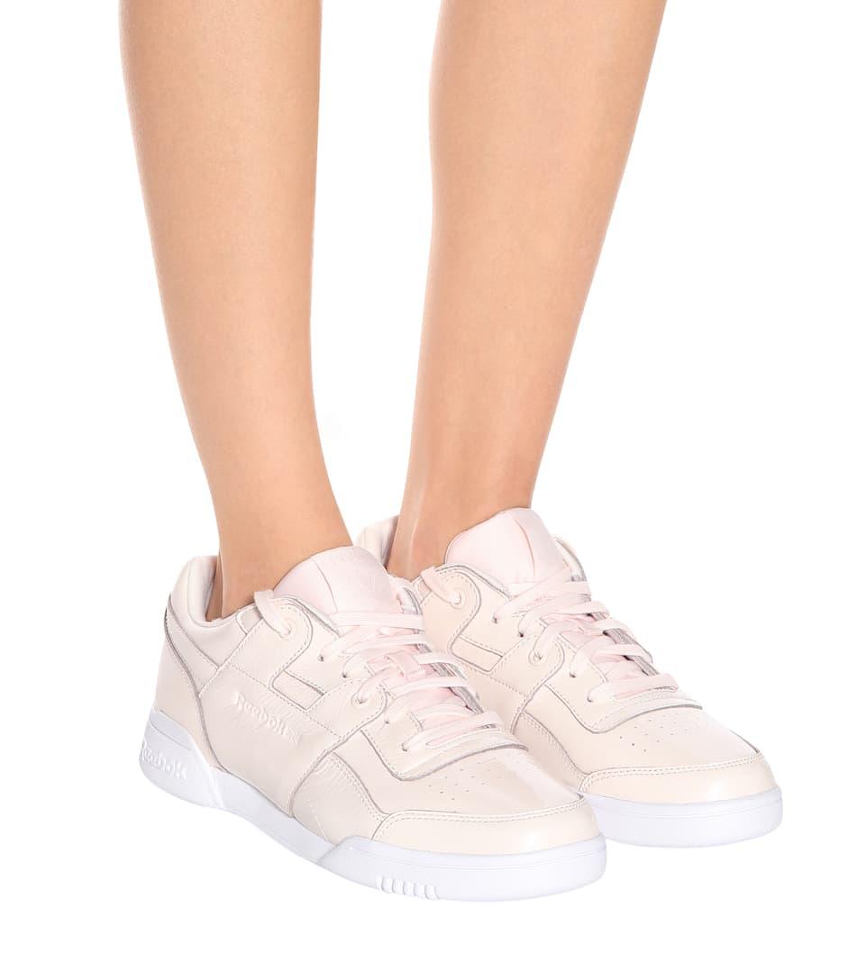 Reebok Sneakers Workout Lo Plus aus Leder