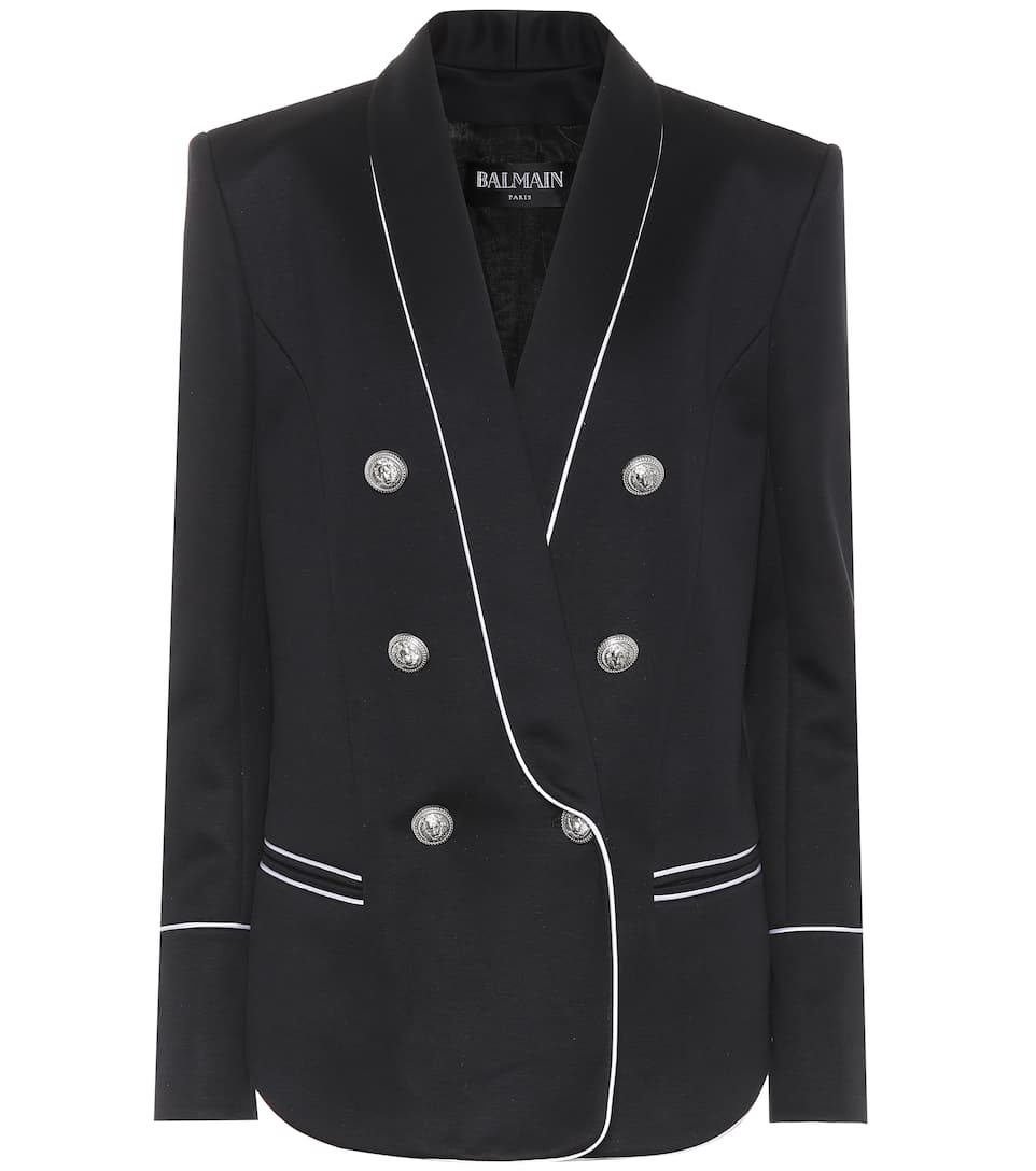Cotton Blend Jersey Blazer by Balmain