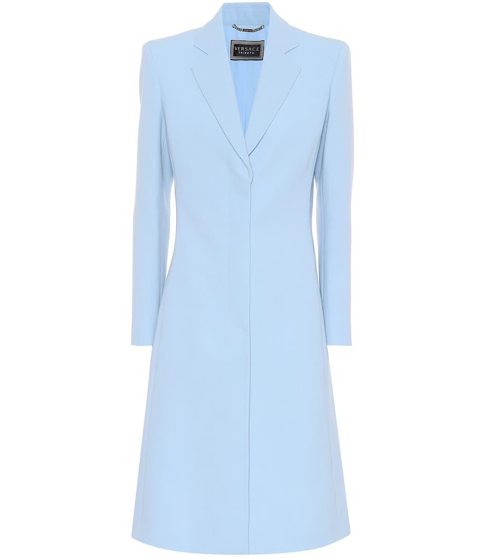 Versace Taillierter Mantel aus Wolle