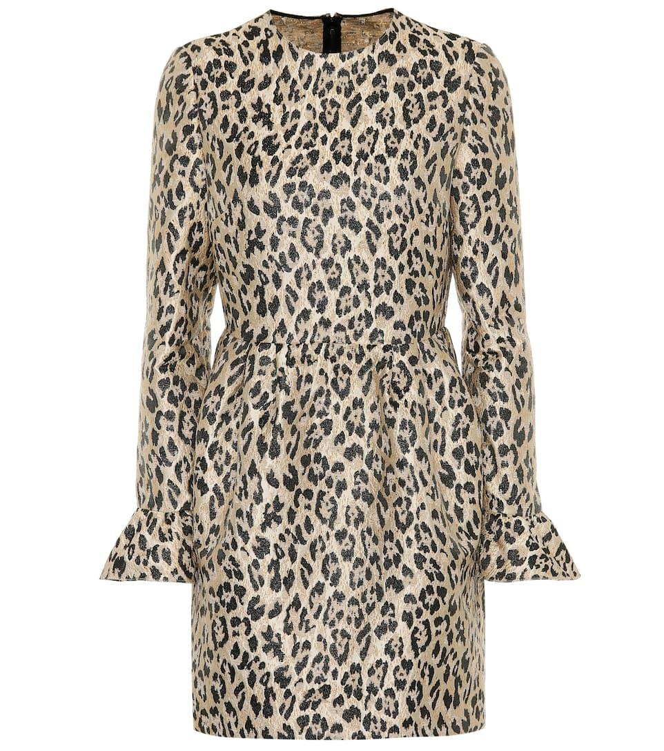 LEOPARD BROCADE DRESS