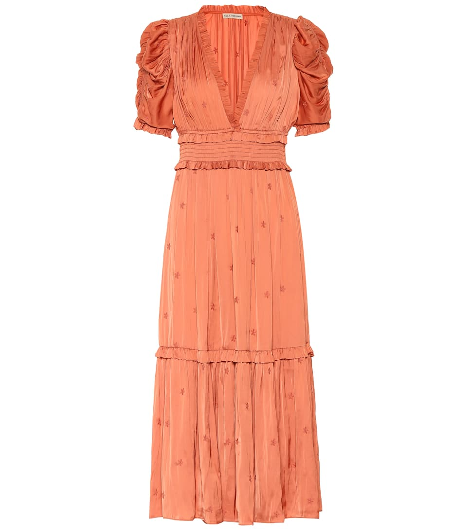 Maya Satin Maxi Dress by Ulla Johnson