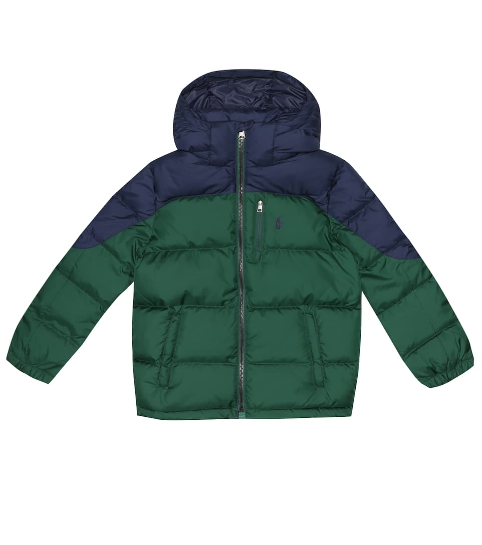 JacketMytheresa Lauren Kids Polo Ralph Quilted Hooded v8nw0mN