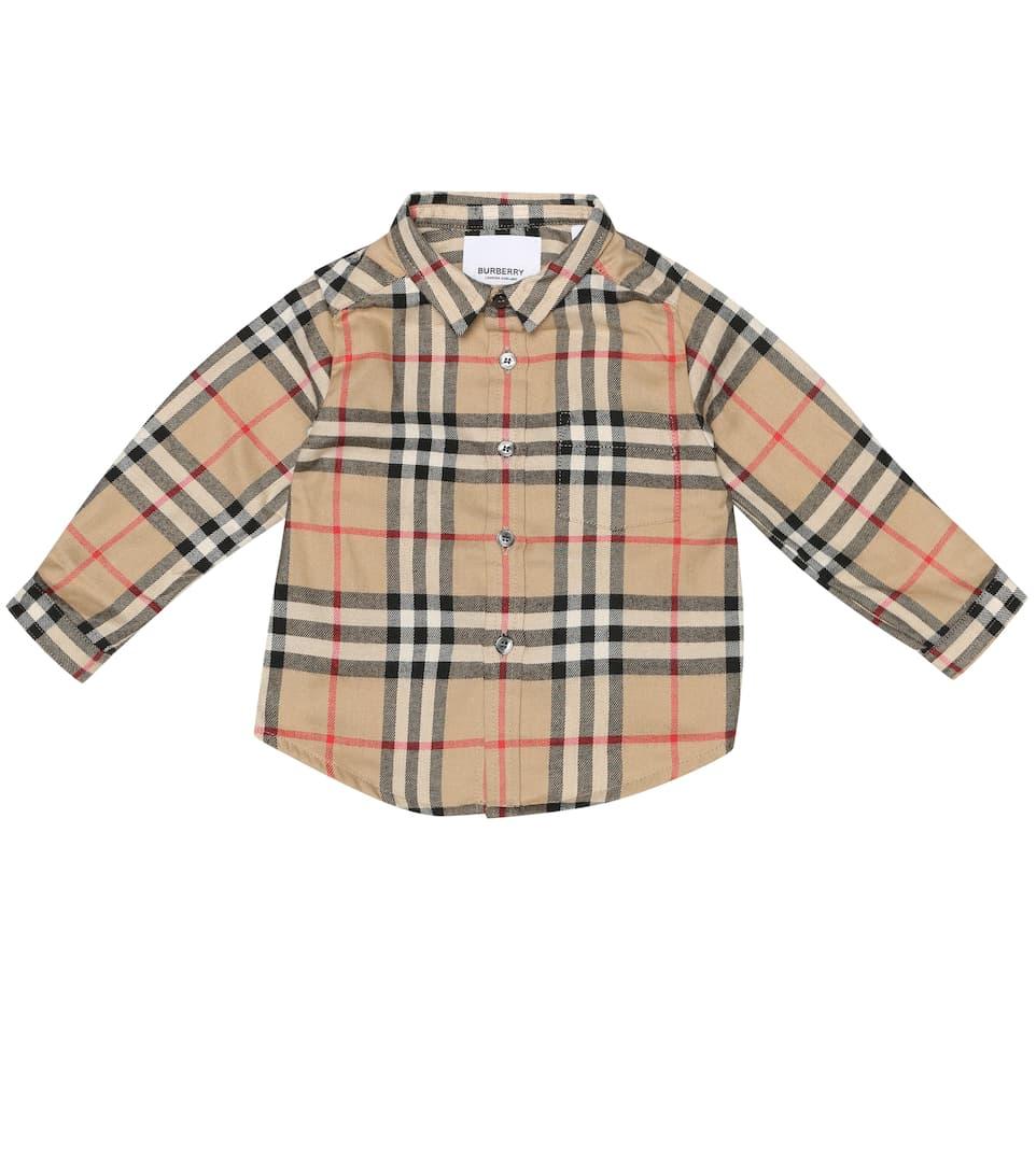 Burberry Fredrick Mini Baby Checked Kids ShirtMytheresa 3RL5Aq4j
