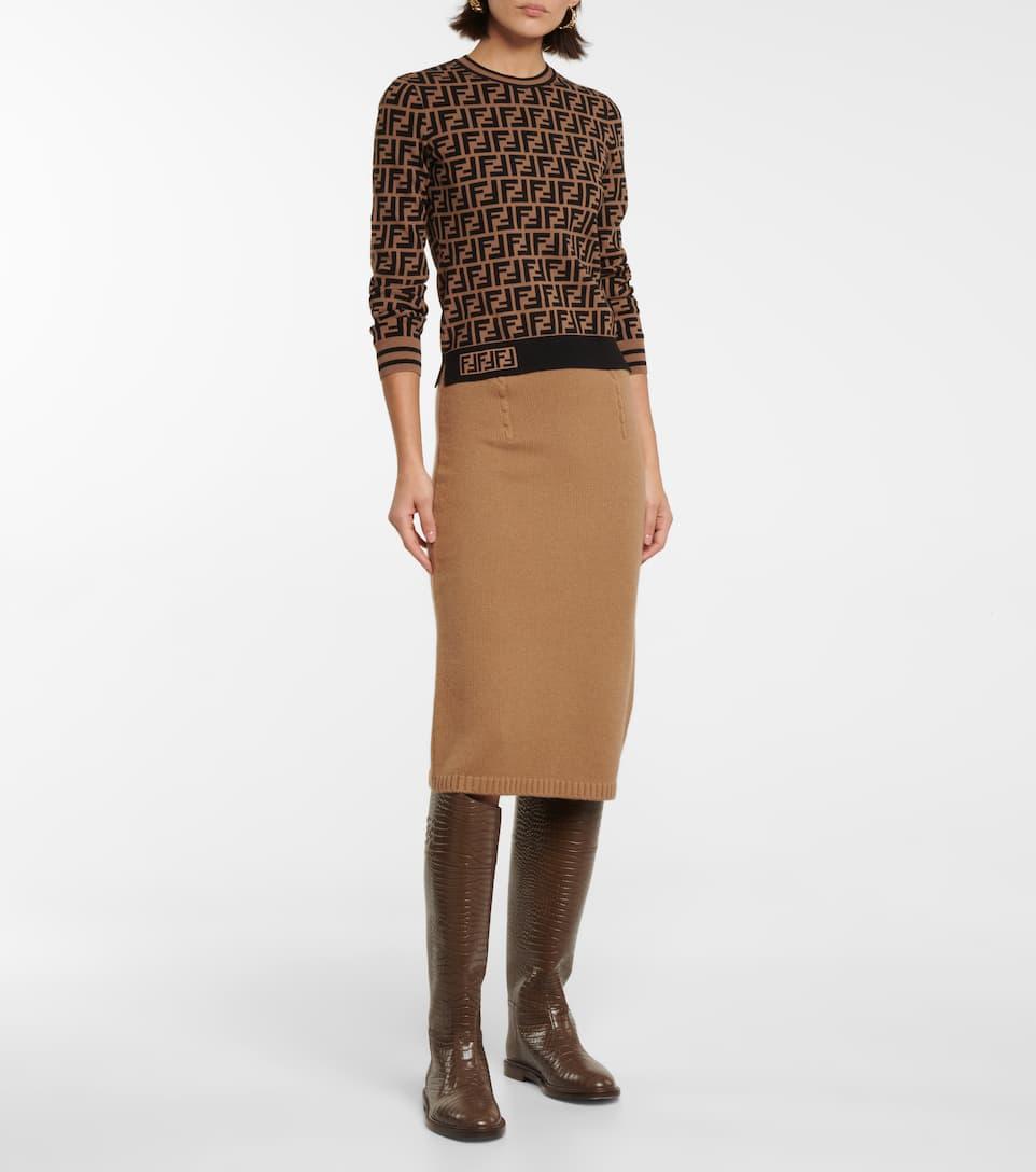 FENDI FF jacquard sweater £ 820.00 at Mytheresa