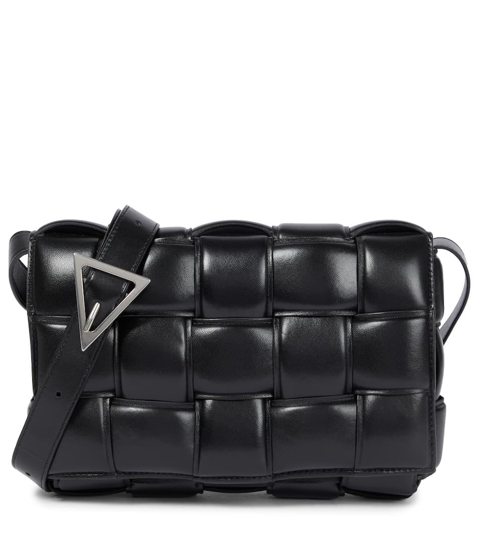 Padded Cassette Leather Shoulder Bag