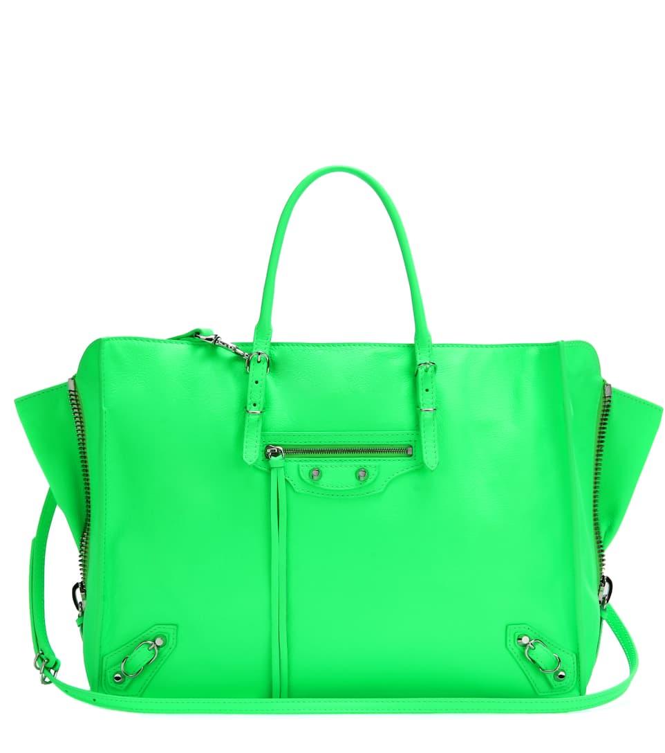 Balenciaga Papier B4 Zip-Around leather shoulder bag