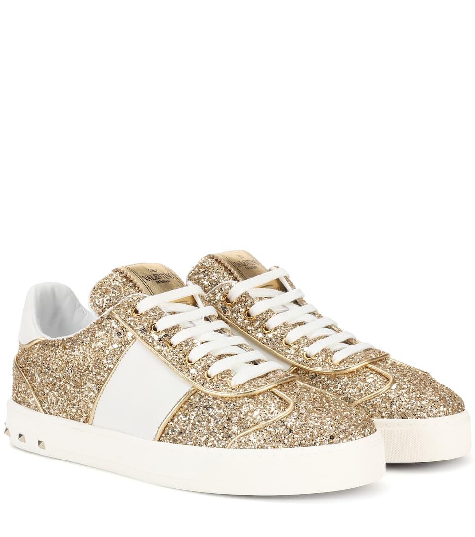 Valentino Valentino Garavani Sneakers Sould Rockstud Mit Glitter