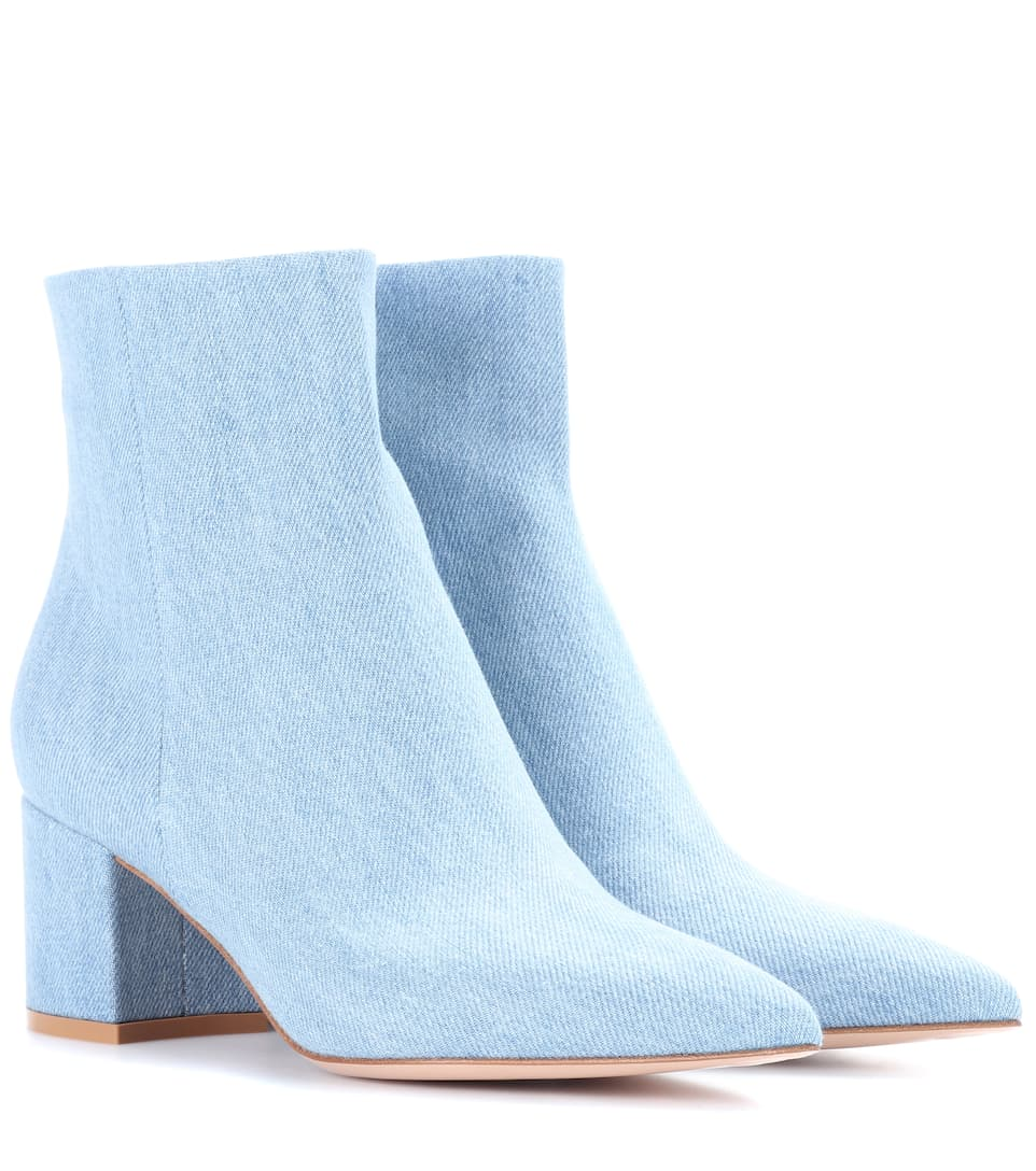 Gianvito Rossi Bottines Piper 60 Aus Denim