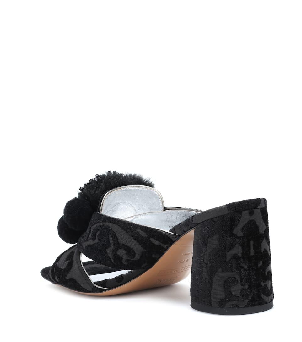 Marc Jacobs Verzierte Sandalen aus Jacquard