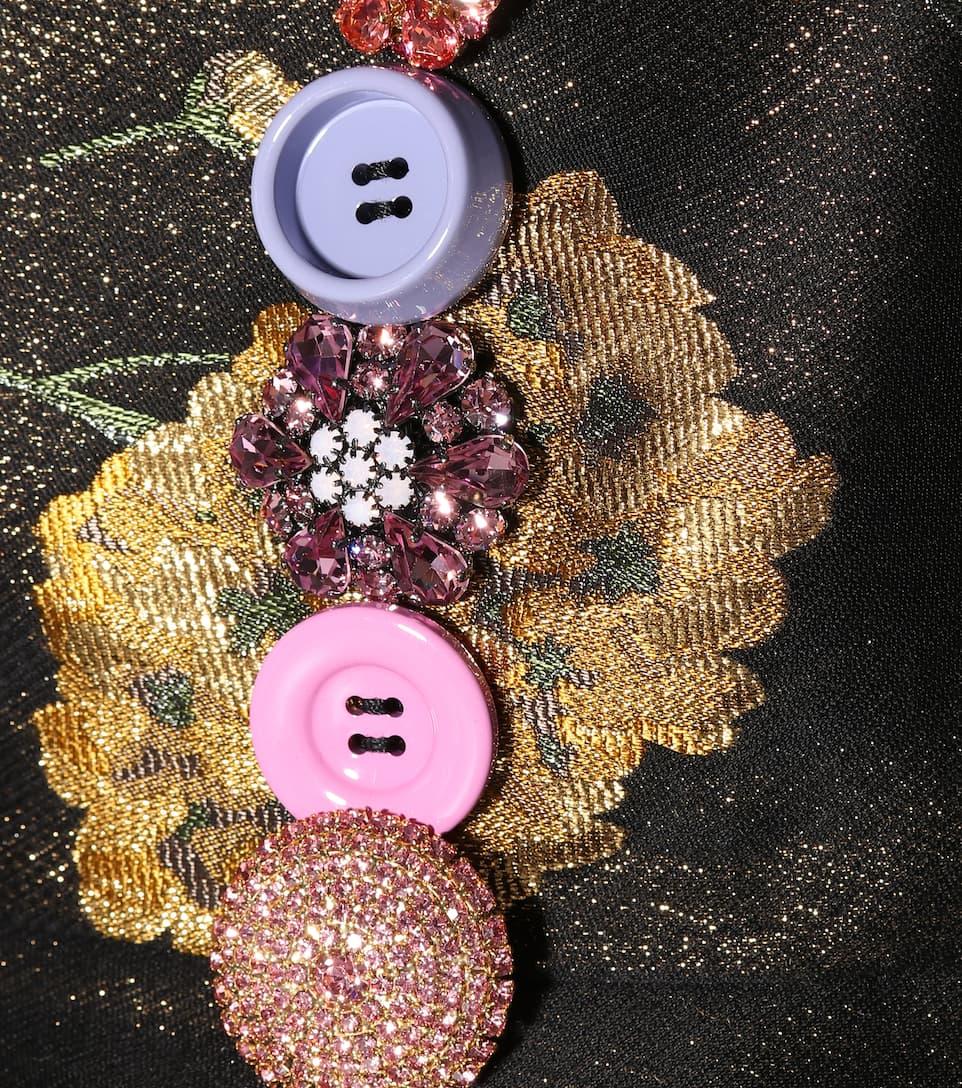 Dolce & Gabbana Verziertes Kleid aus Brokat