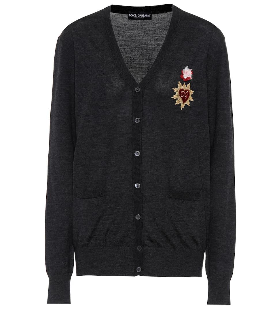 Dolce & Gabbana Verzierter Cardigan aus Wolle