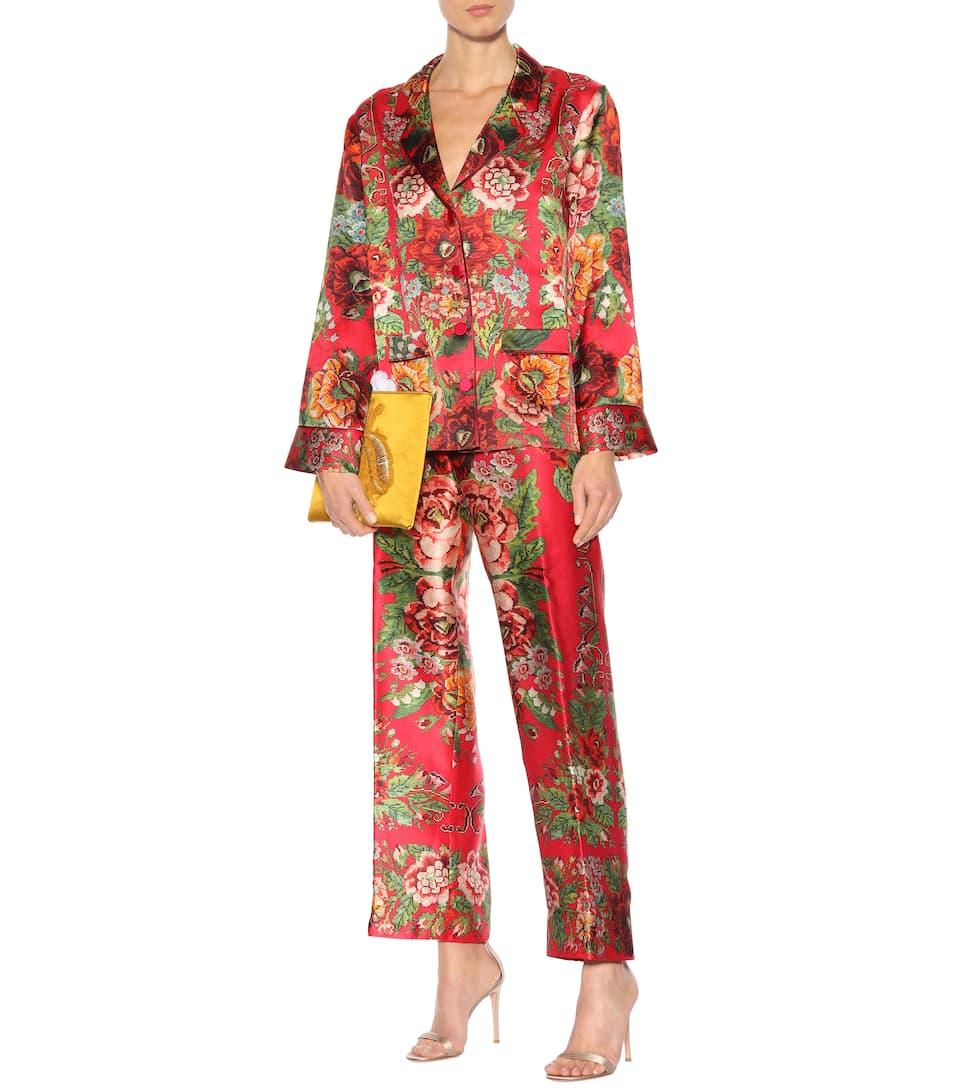 F.r.s For Restless Sleepers Bedruckte Pyjama-hose Etere Aus Seide
