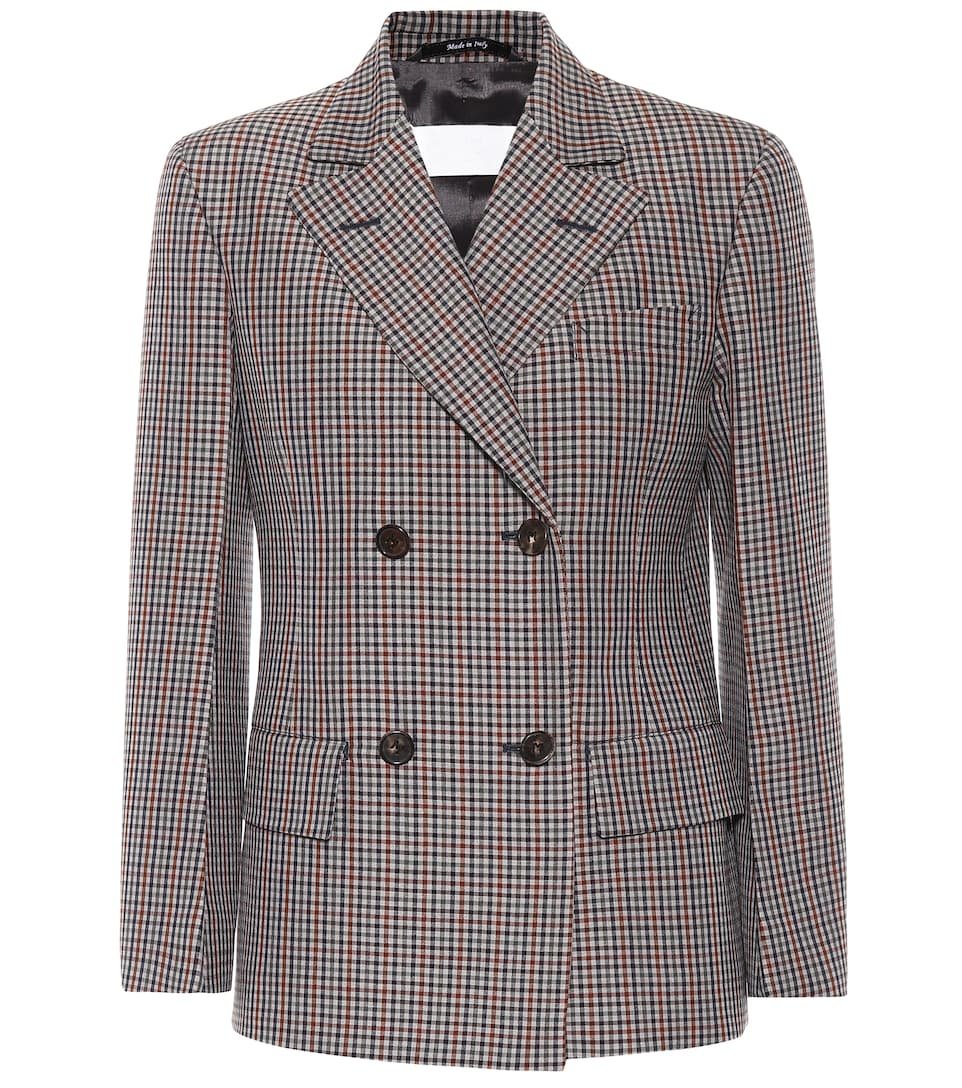 ed959c45d39 MAISON MARGIELA WOOL AND MOHAIR CHECKED JACKET