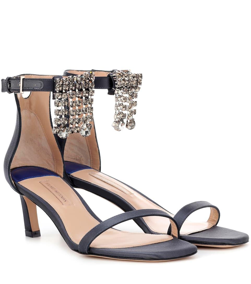 Stuart Weitzman Fringe Square Nudist 45 sandals Asphalt Clearance Latest Classic Online Cheapest For Sale Get Authentic Cheap Online Explore Sale Online csFJMUt2Oc