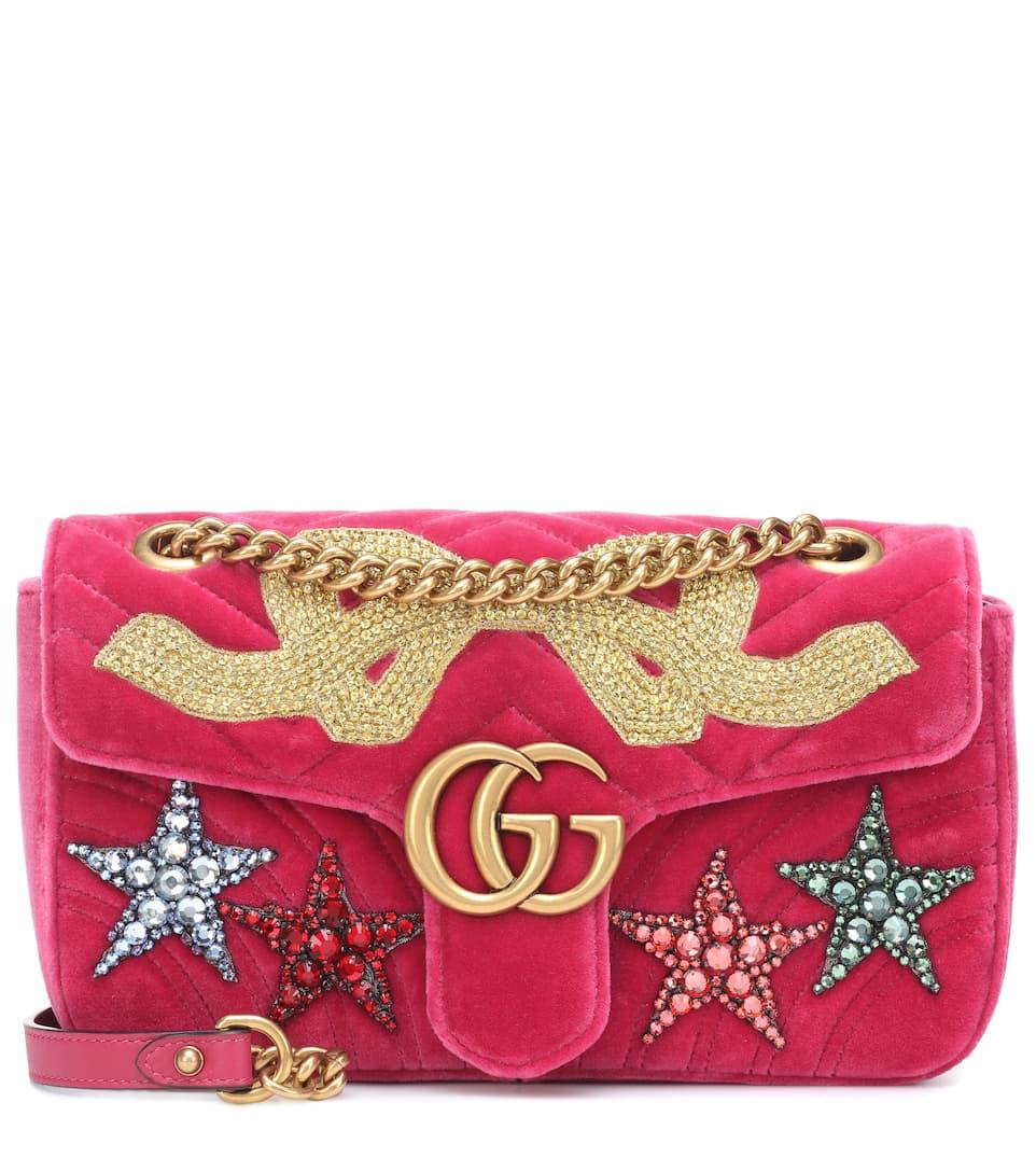 100773d56e34 Gg Marmont Velvet Shoulder Bag - Gucci