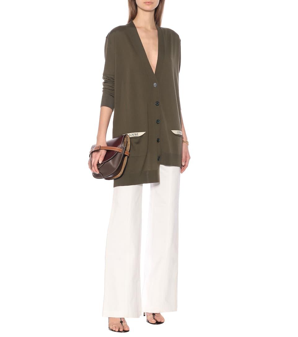 Asymmetric Wool Cardigan | Loewe - Mytheresa