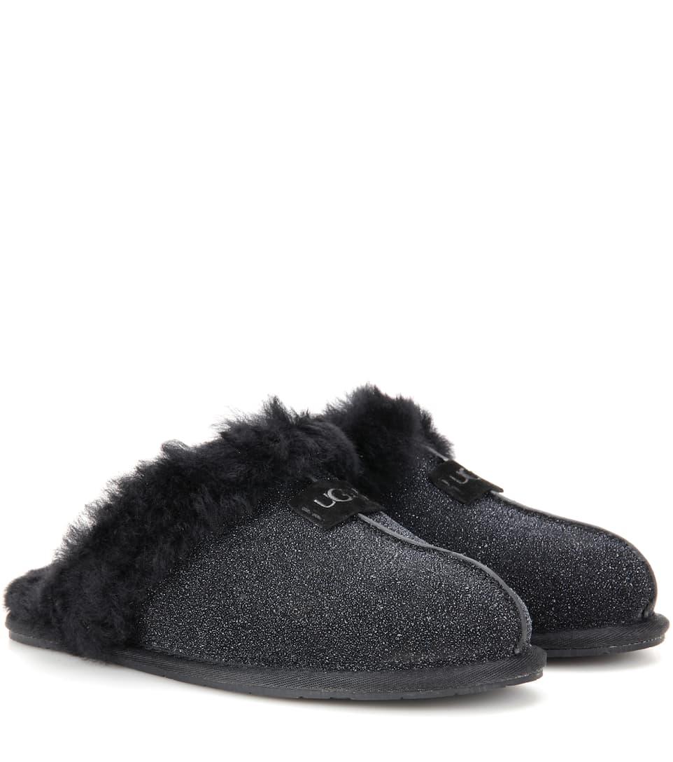UGG Australia Scuffette II shearling-lined suede slippers