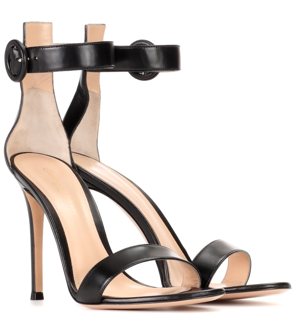 2c0547d785e6 Portofino 105 Leather Sandals - Gianvito Rossi