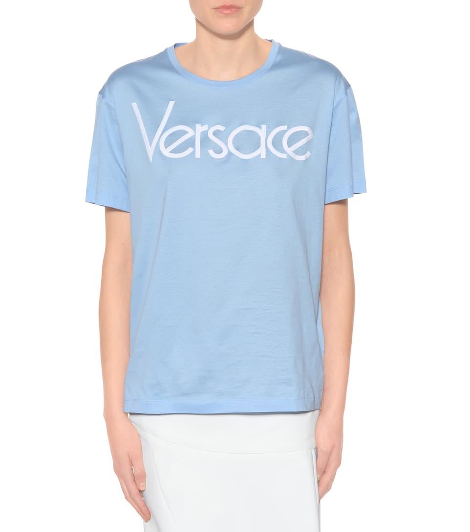 Versace Bedrucktes T-Shirt aus Baumwolle
