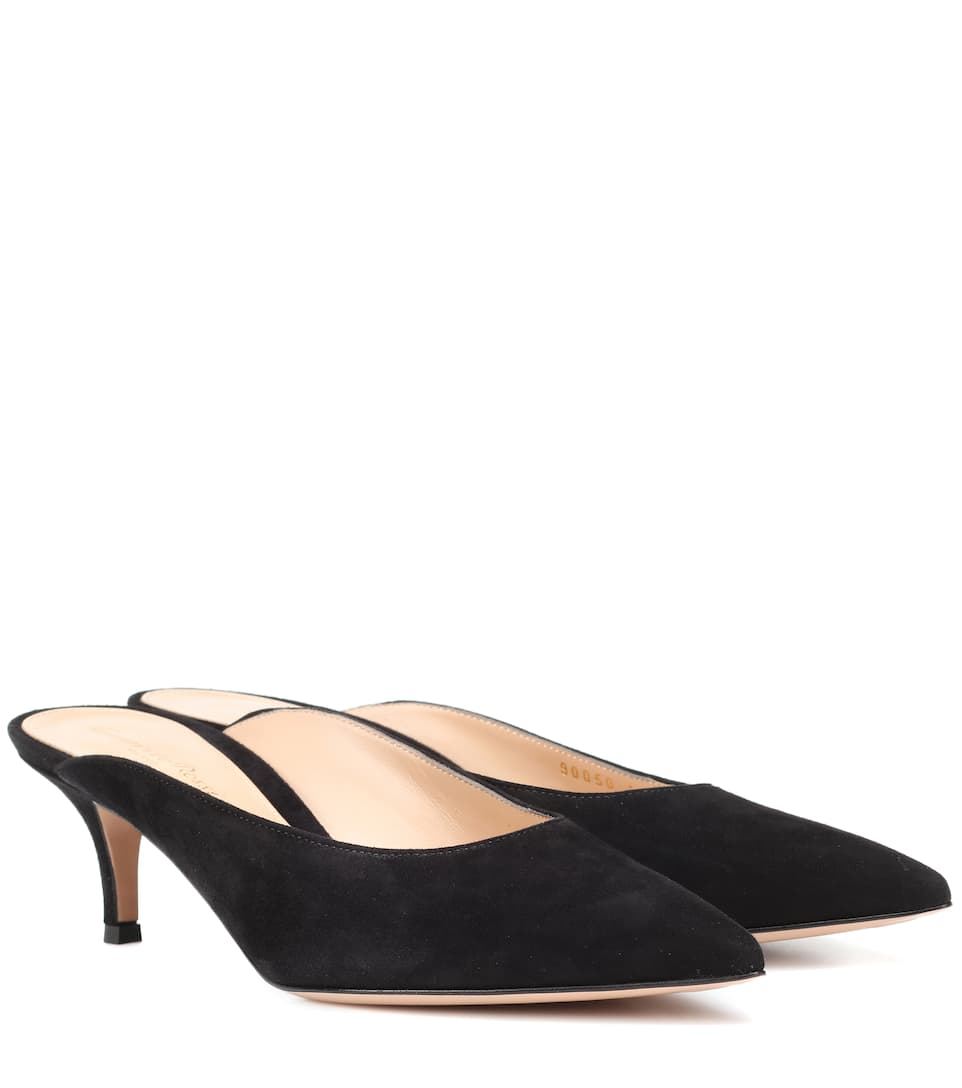 Gianvito Rossi Paige suede mules Black Visit Cheap Online Visit Cheap Price Prices Sale Online Cheap Sale Fashion Style enred