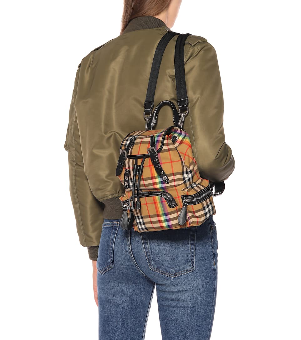 Burberry - The Rucksack Small check backpack  758a52ebeeb22
