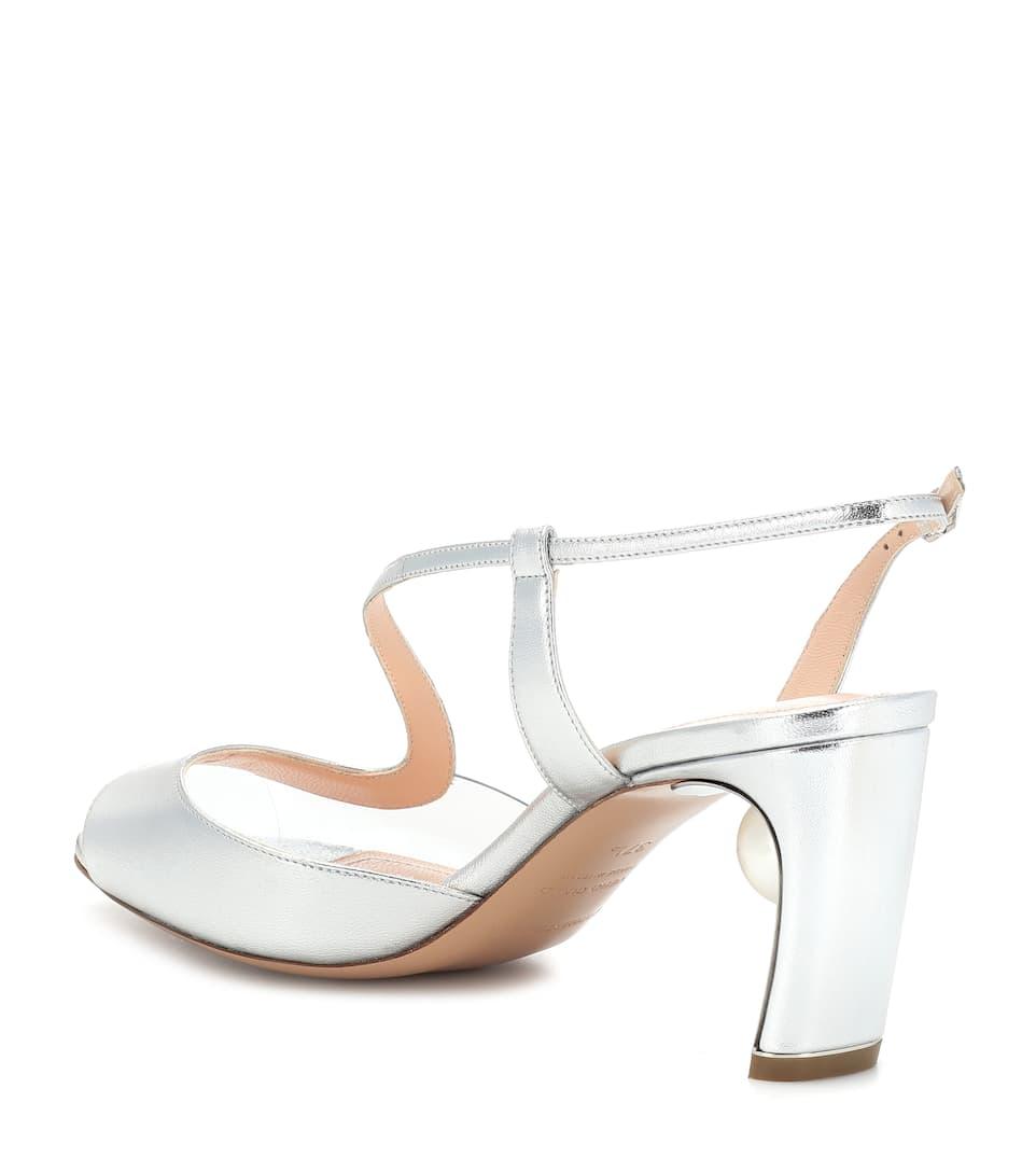 40b2f1097861 Maeva Pearl 70mm leather sandals. Nicholas Kirkwood