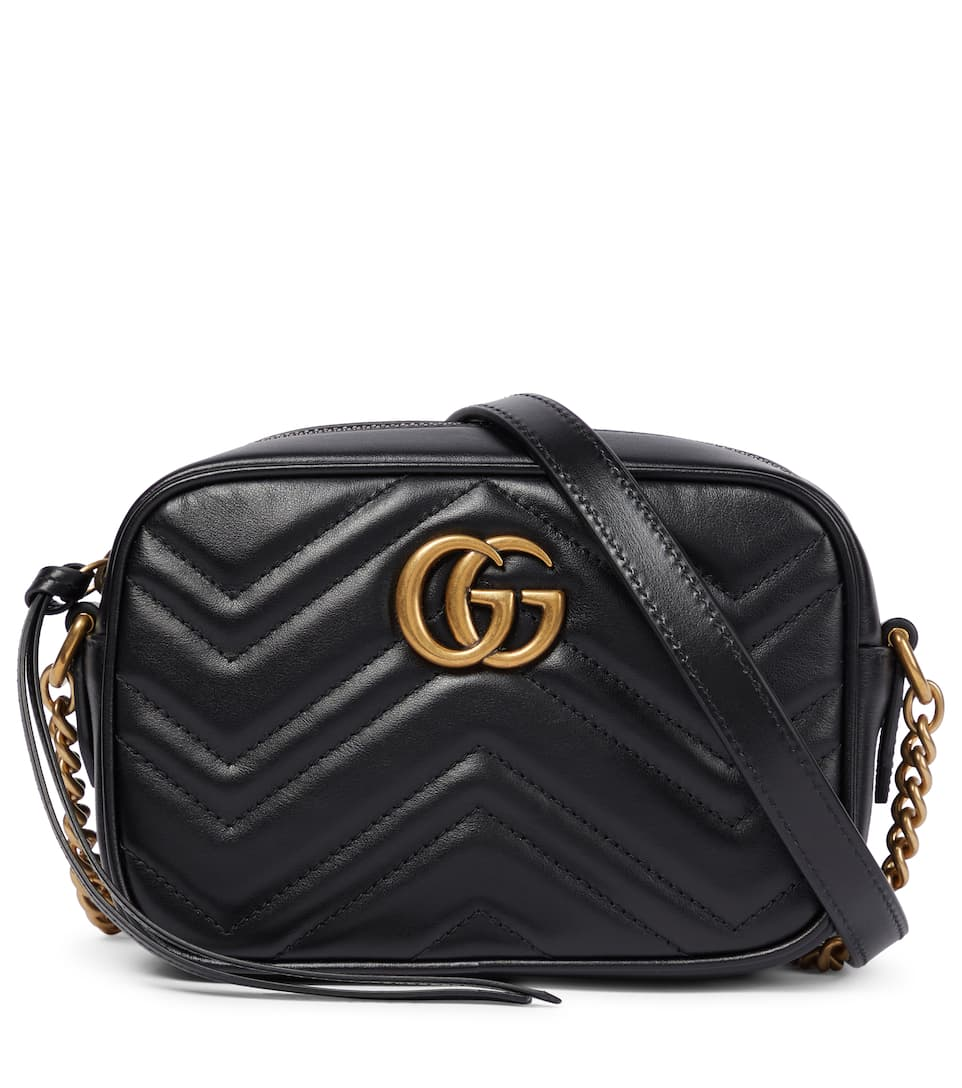 cd38b2cf20 Shoptagr | Sac à Bandoulière En Cuir Gg Marmont Mini by Gucci