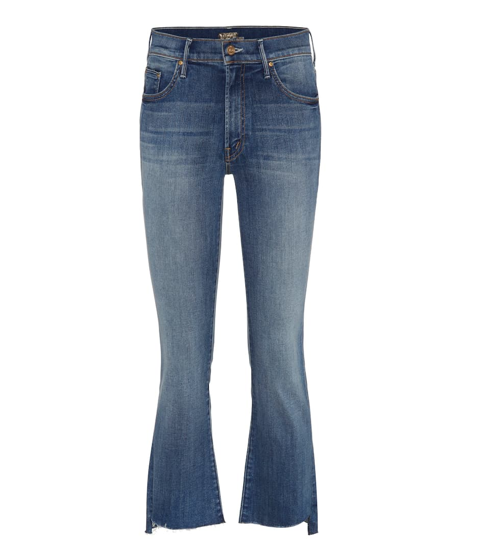 Mother Jeans Insider Crop Step Fray