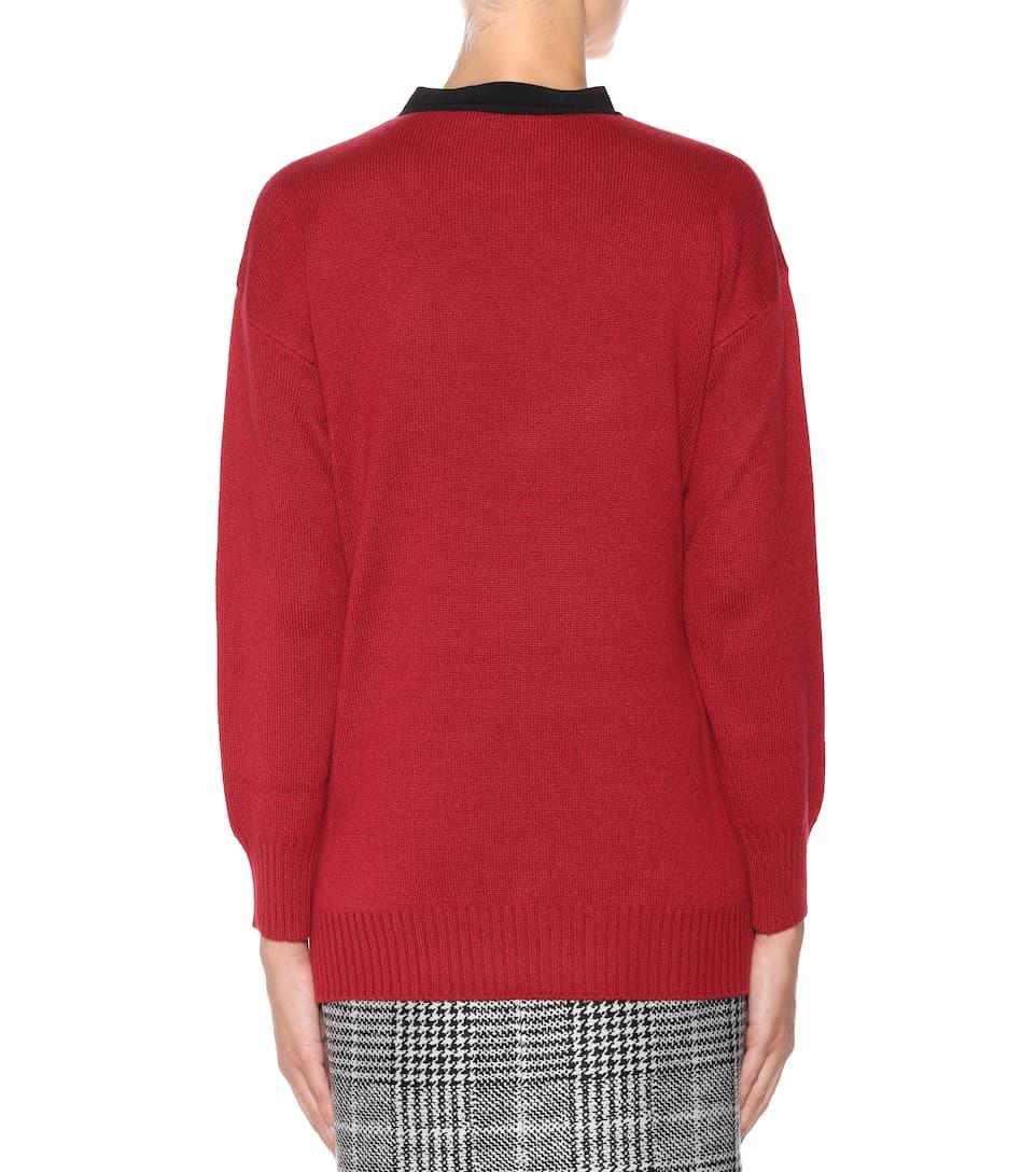 Versand Outlet-Store Online Fendi Asymmetrischer Pullover mit Cashmere Verkauf Besten Verkaufs DFDISbDdrF