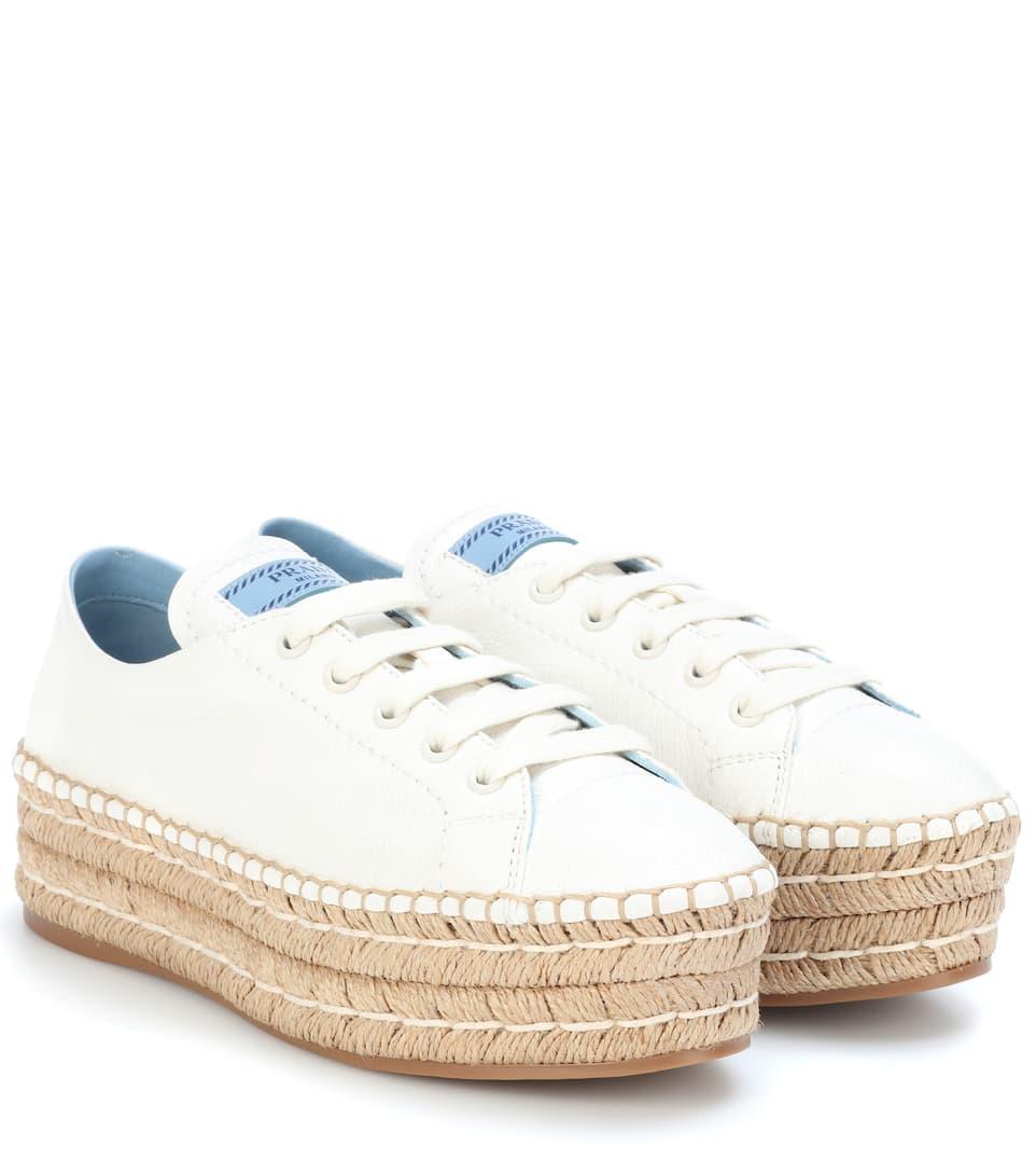un'altra possibilità 320ea 8c065 Sneakers espadrillas in pelle con platform