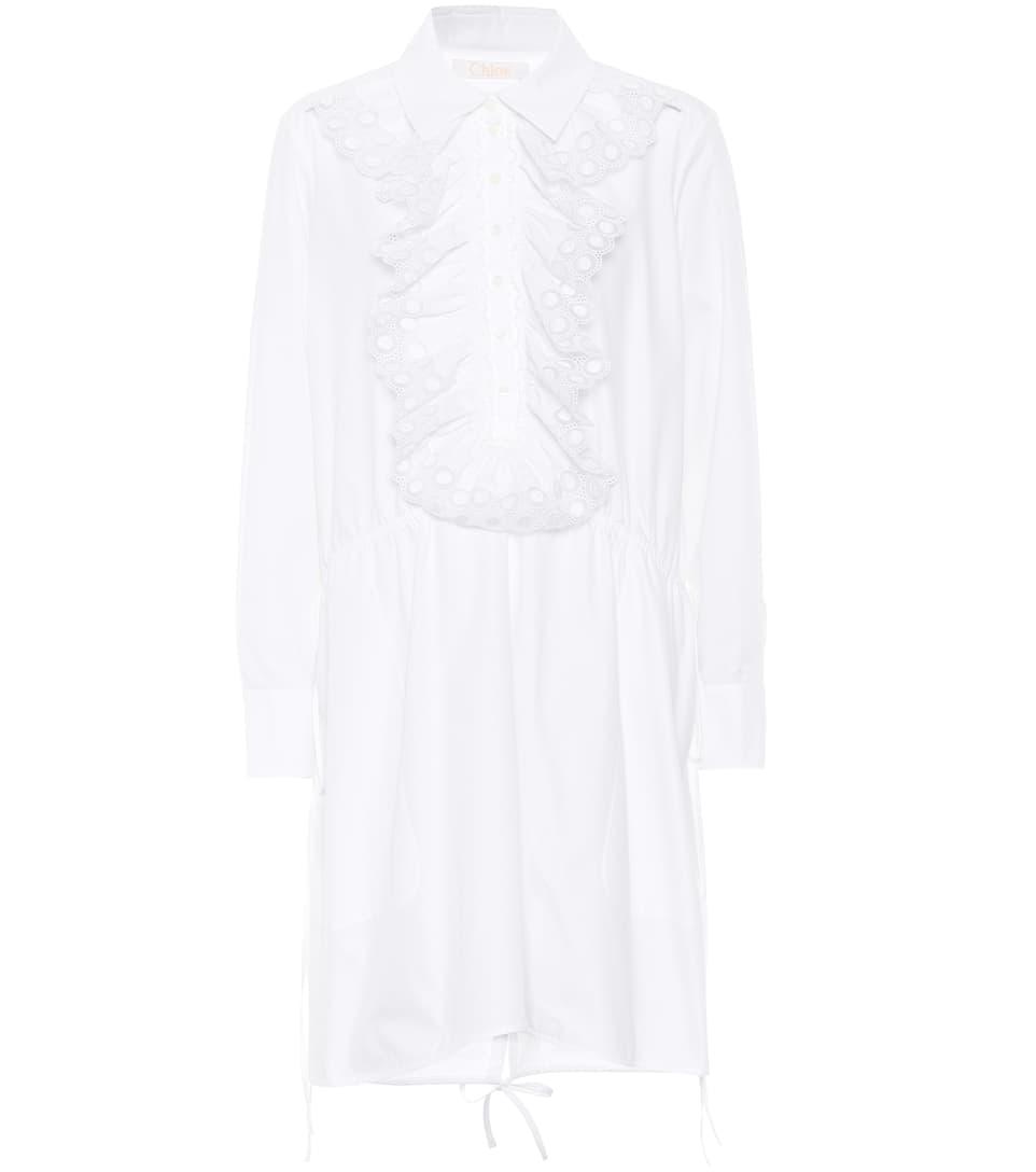 Chloé Hemdblusenkleid aus Baumwolle