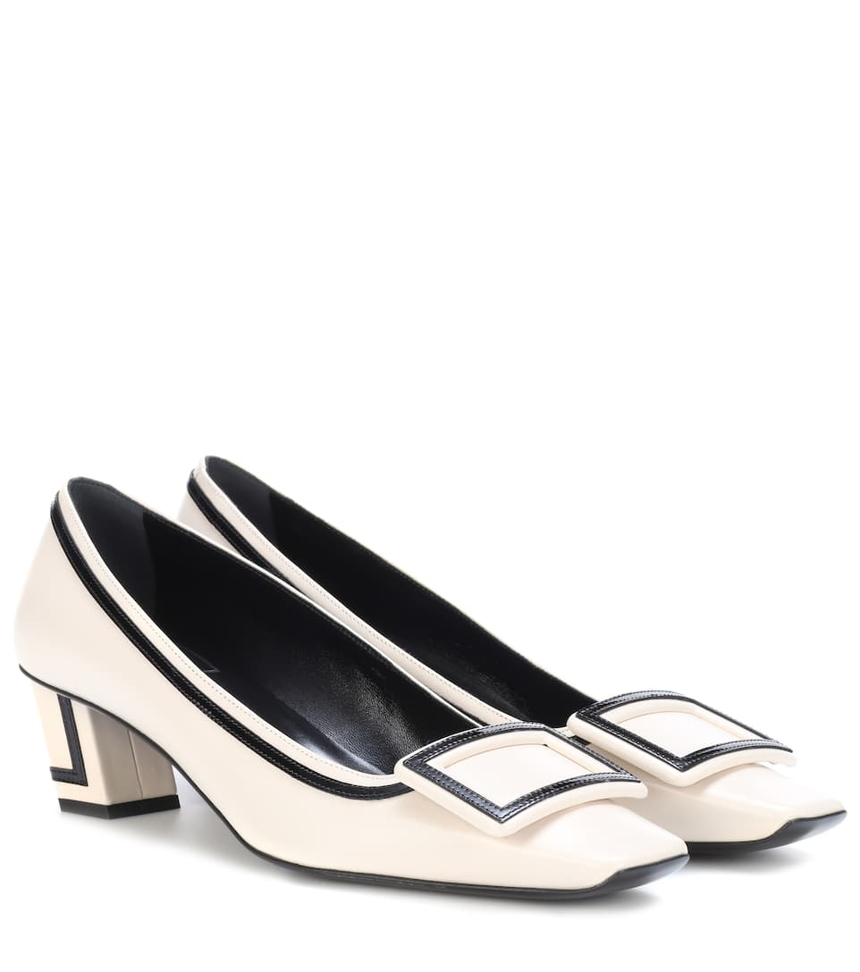 1de2aca393dc Belle Vivier Graphic Leather Pumps - Roger Vivier