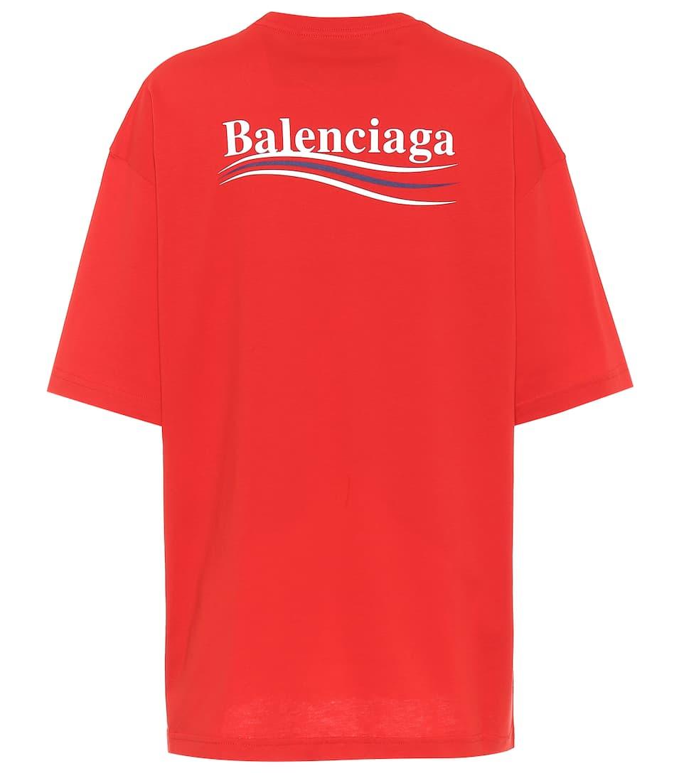 7781d5b1 Balenciaga - Logo cotton T-shirt   Mytheresa