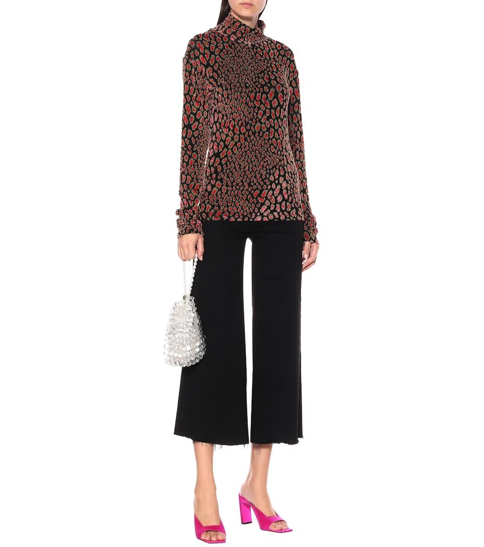 Ladies Women/'s Brown Leopard Print Long Sleeve Stretch Viscose Tee Top SM XXL