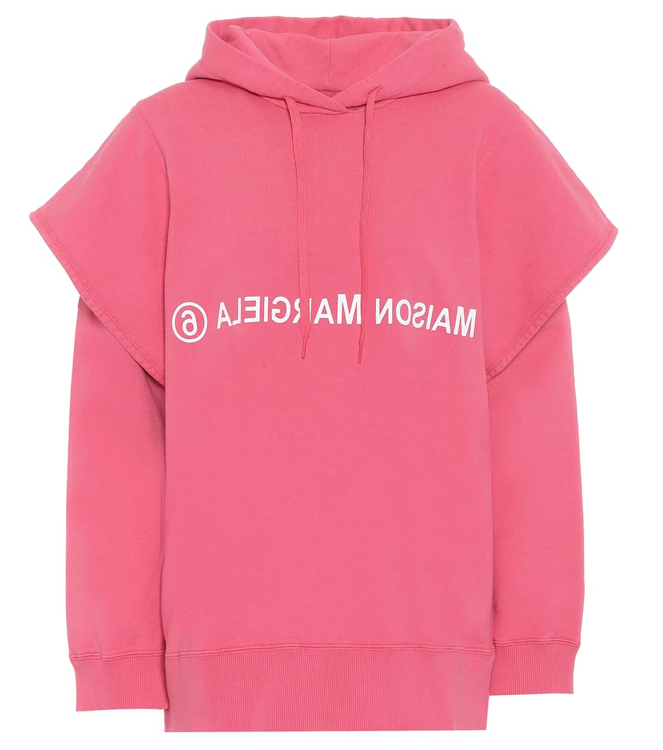 MM6 Maison Margiela - Logo cotton hoodie