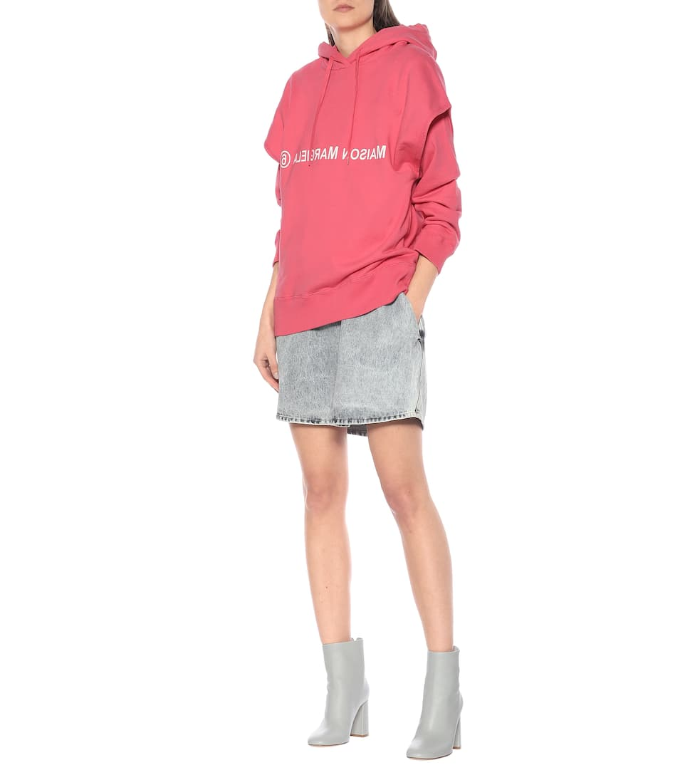MM6 Maison Margiela - Logo cotton hoodie