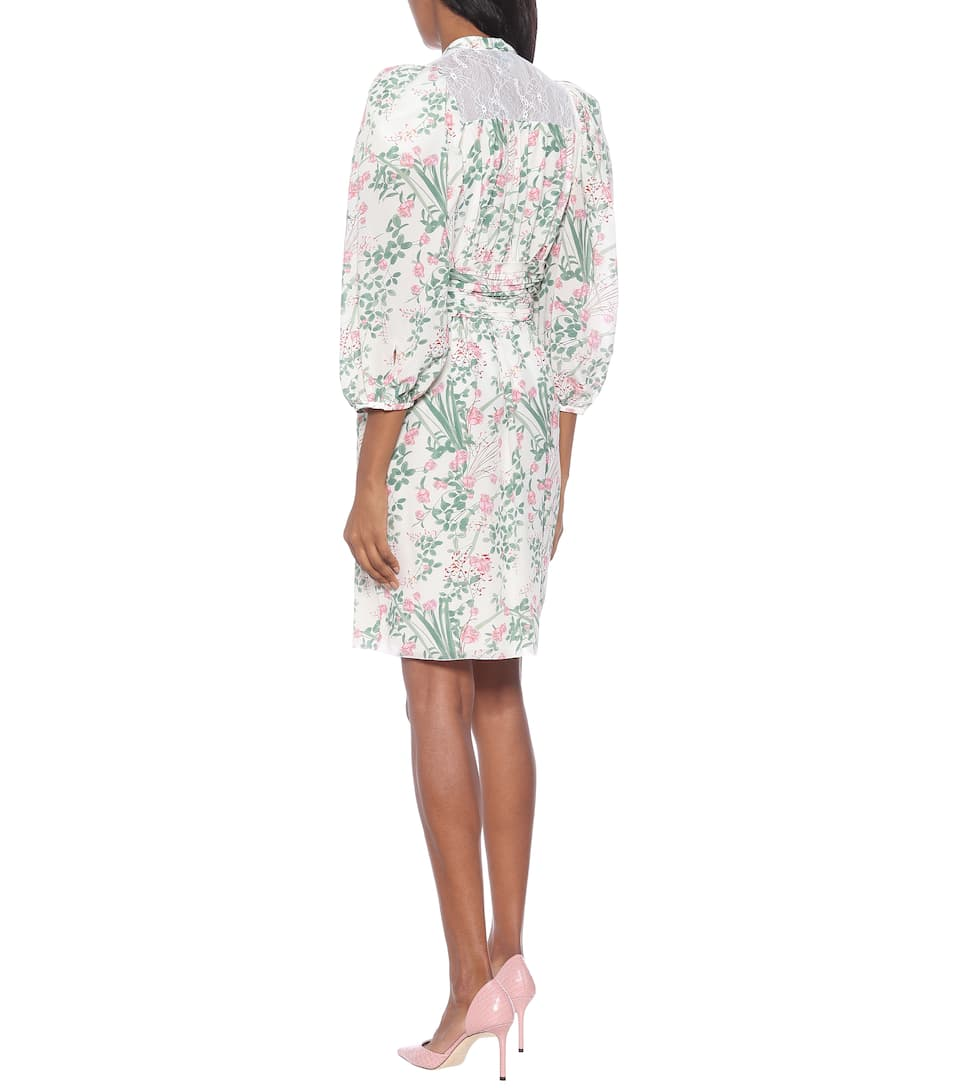 Giambattista Valli - Floral silk crêpe de chine dress