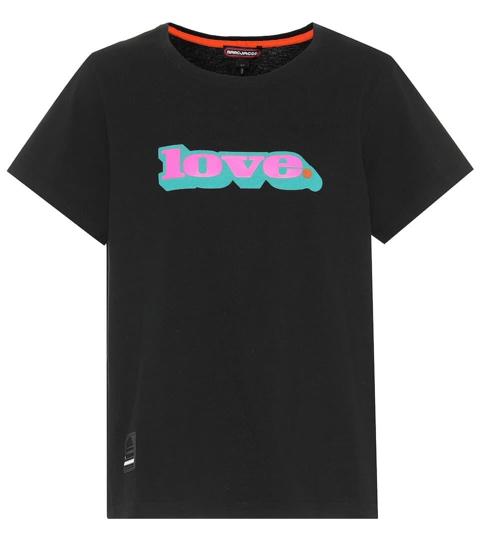 Marc Jacobs Bedrucktes T-Shirt aus Baumwolle
