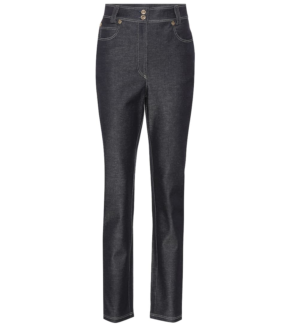 Versace High Rise Jeans aus Baumwolle