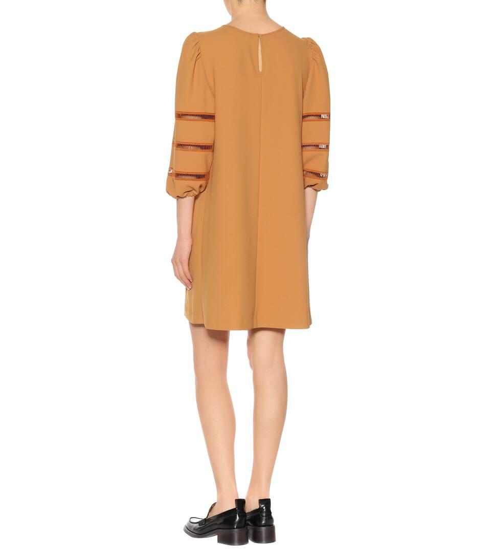 Mini-Robe En Crêpe - See By Chloé Sortie Ebay À La Mode We7YIs
