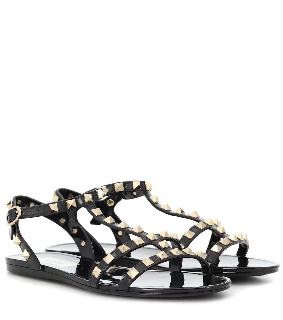0b87b94c03 Valentino - Valentino Garavani Rockstud jelly sandals | Mytheresa