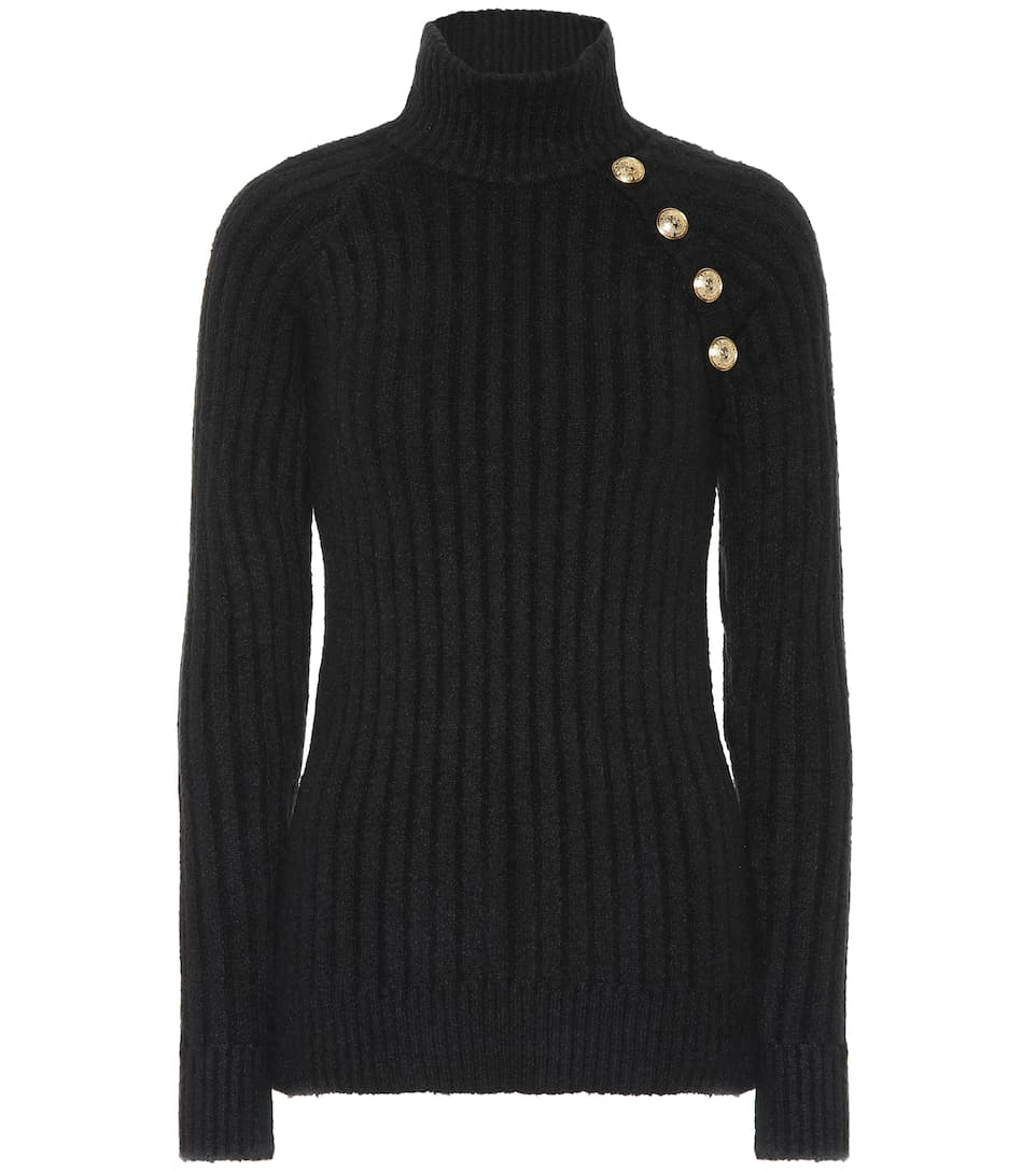 291805438df4 Embellished Turtleneck Sweater - Balmain
