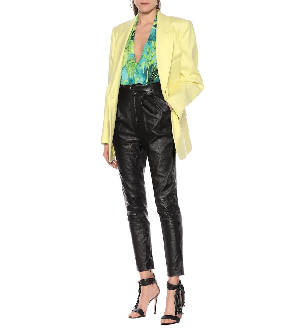 Versace - Jungle-print bodysuit