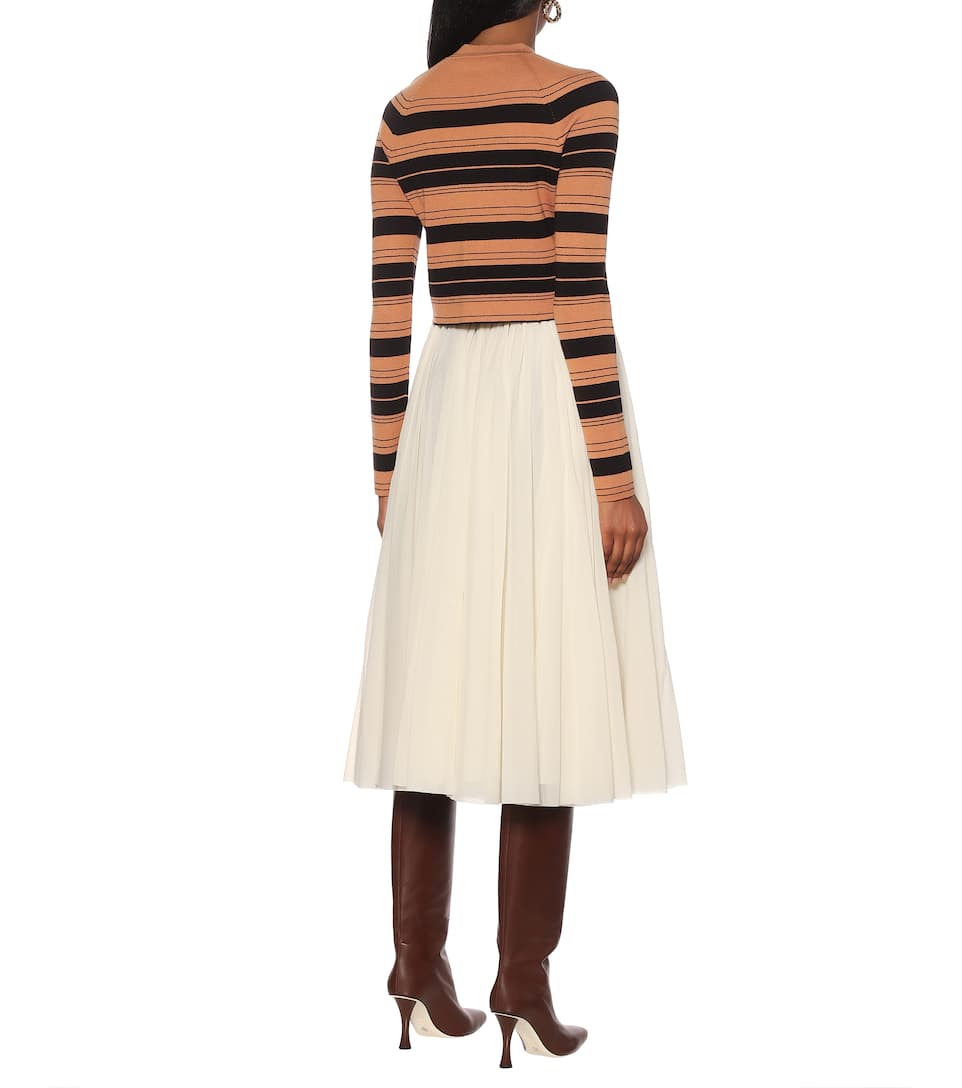 Proenza Schouler - Striped silk-blend sweater