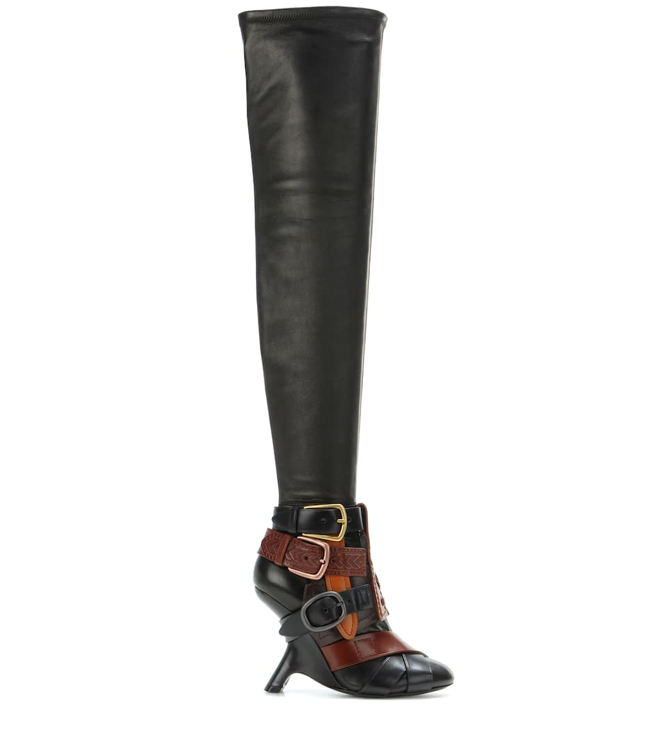 thigh high buckle boots tom ford mytheresa