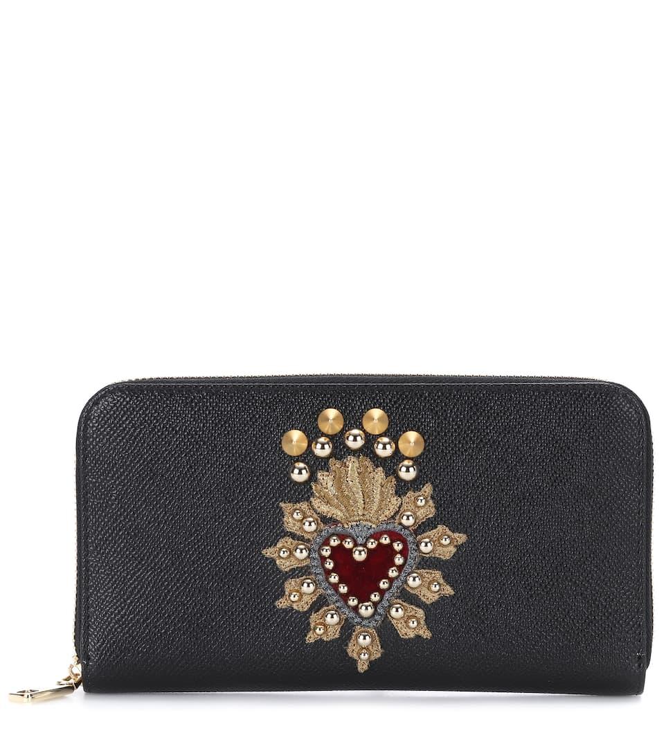 Dolce & Gabbana - Portefeuille en cuir à ornements