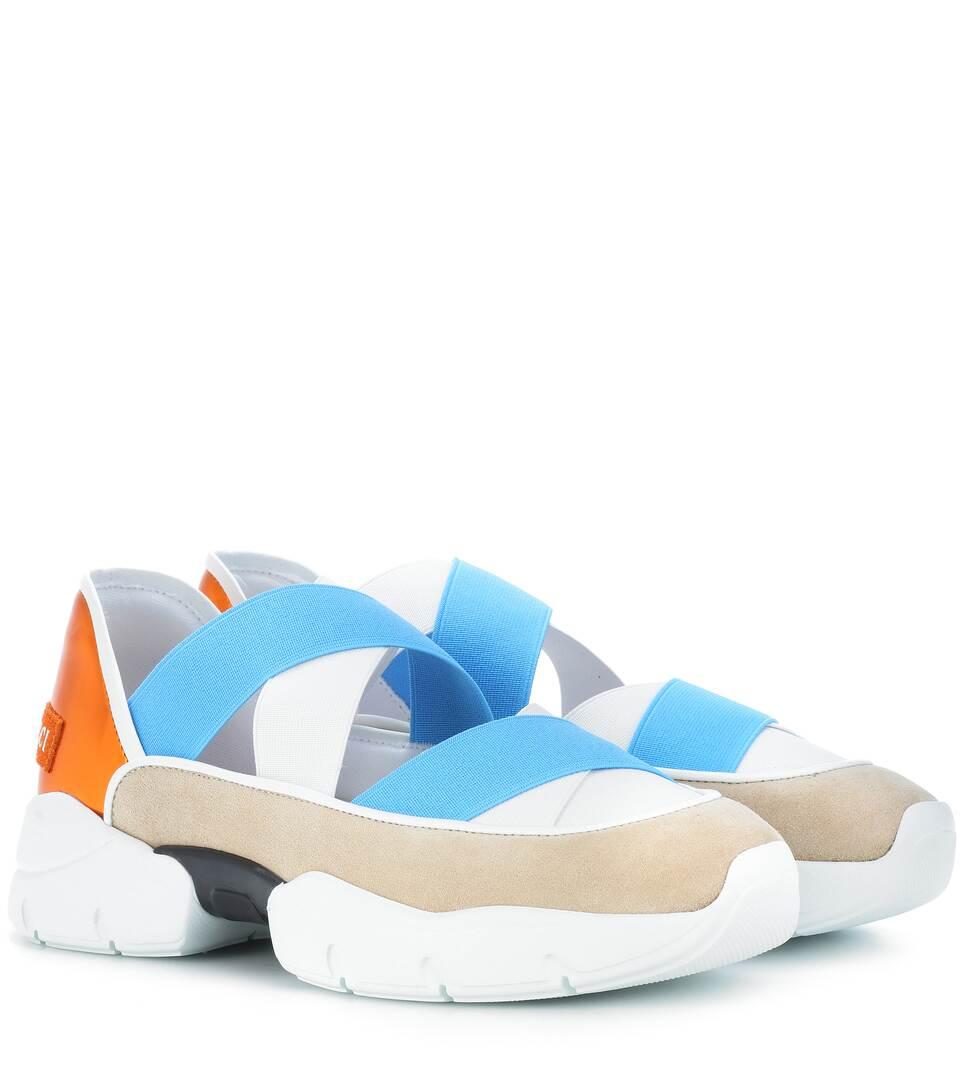 Emilio Pucci Sneakers mit Lederanteil Outlet Großer Rabatt Vwo4d