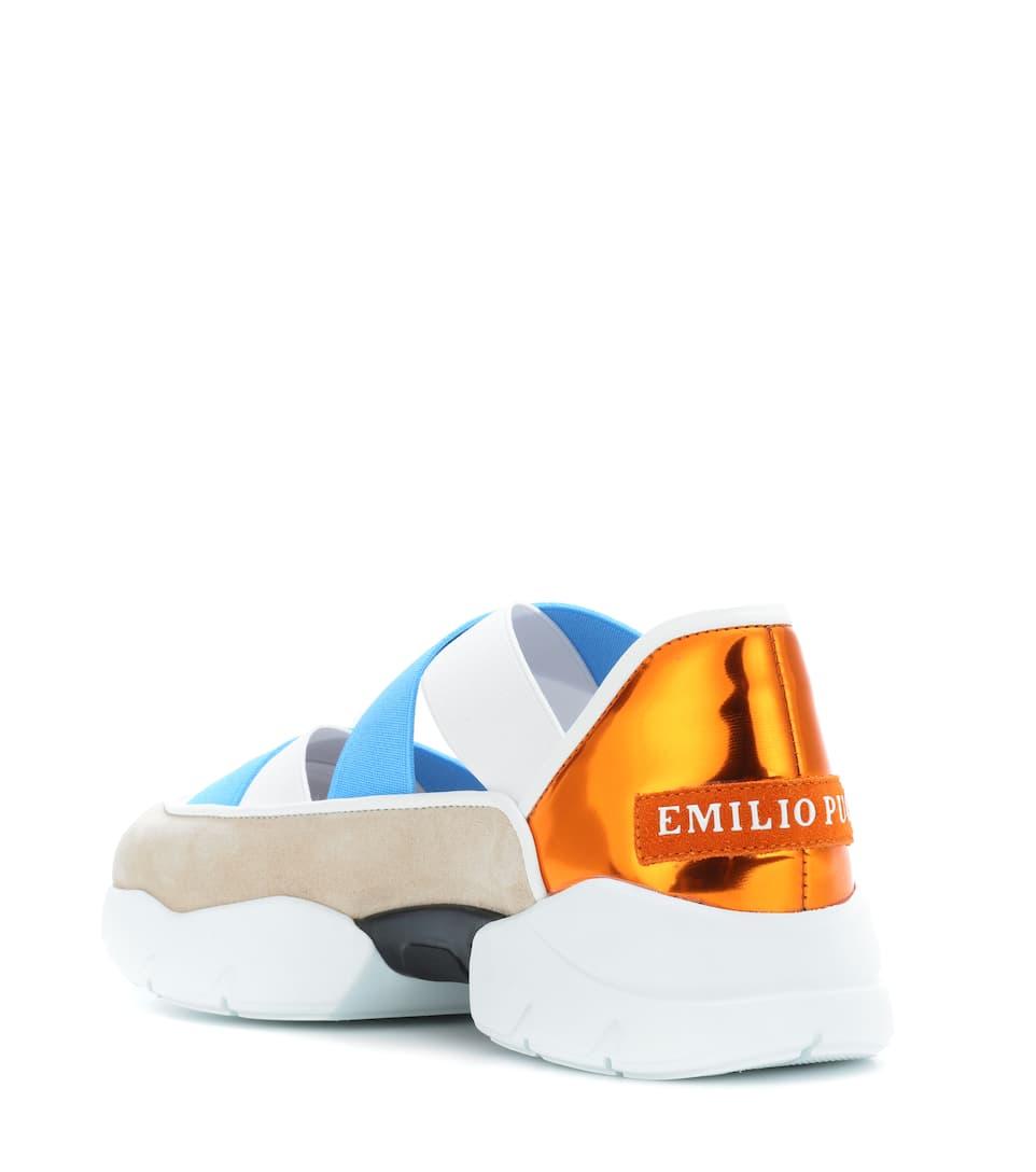 Emilio Pucci Sneakers mit Lederanteil Freies Verschiffen Sneakernews Mit Visum Zahlen Zu Verkaufen jXhtC1BS