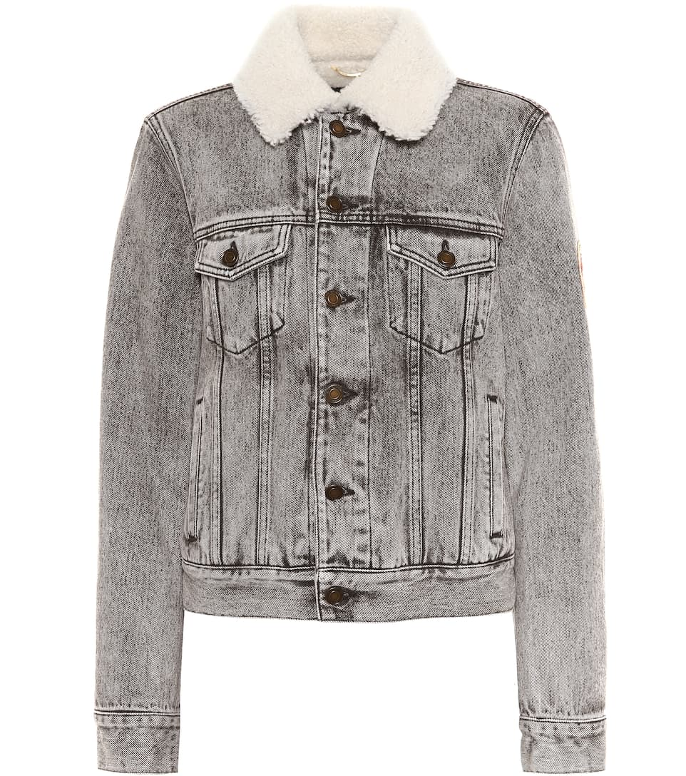 Saint Laurent Lined Denim Jacket, Cotton