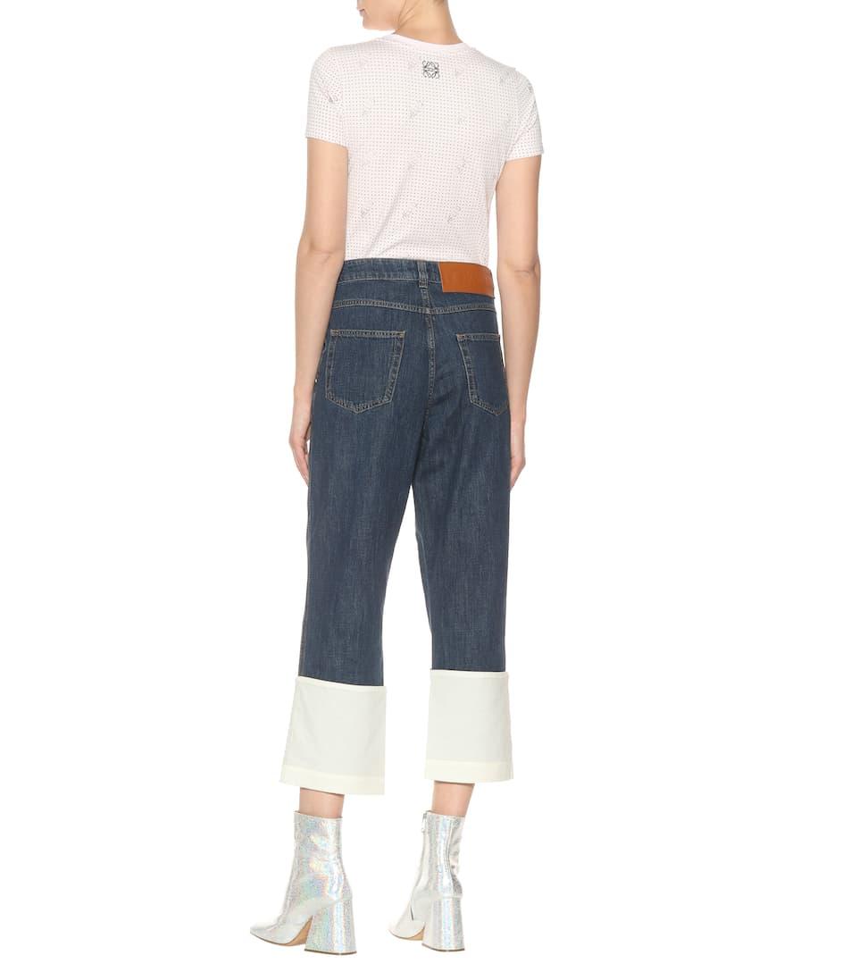 Loewe Cropped Jeans Fisherman aus Baumwolle